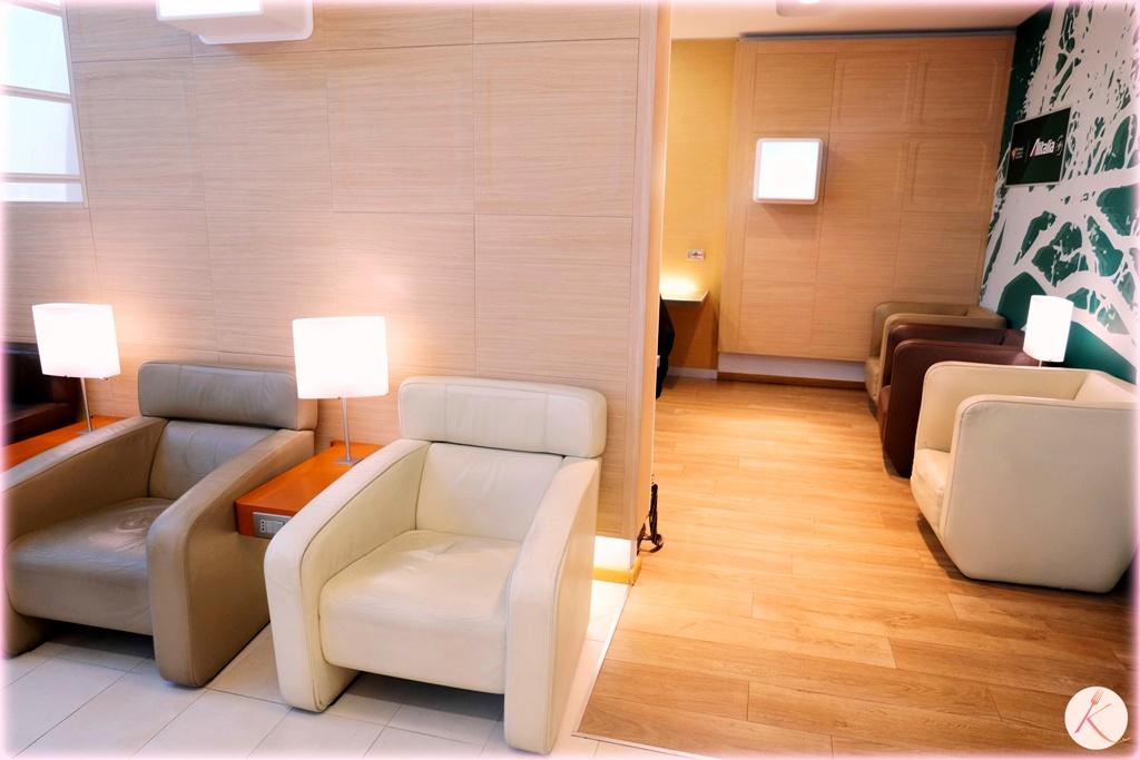 La Business Class et les Lounges d'Alitalia