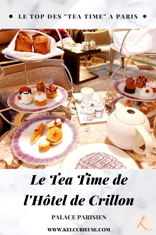 HOTEL DE CRILLON TEA TIME