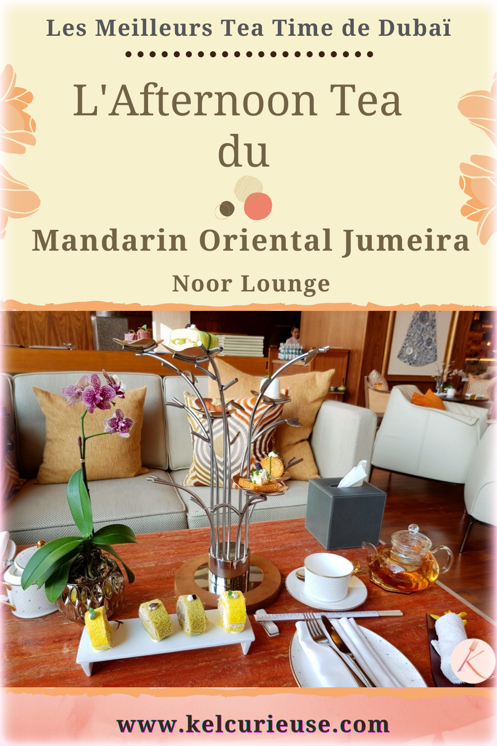 Noor Lounge Mandarin Oriental Jumeira afternoon tea